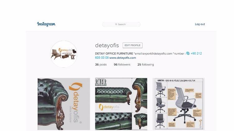 Bizleri instagram'da takip etmek için adresimiz : https://www.instagram.com/detayofis/
