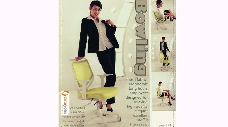 Bowling Serisi Personel Koltuğu:uzun süre çalışanlar için tasarlanmış,ergonomisi ile eşsiz konfor sunar.