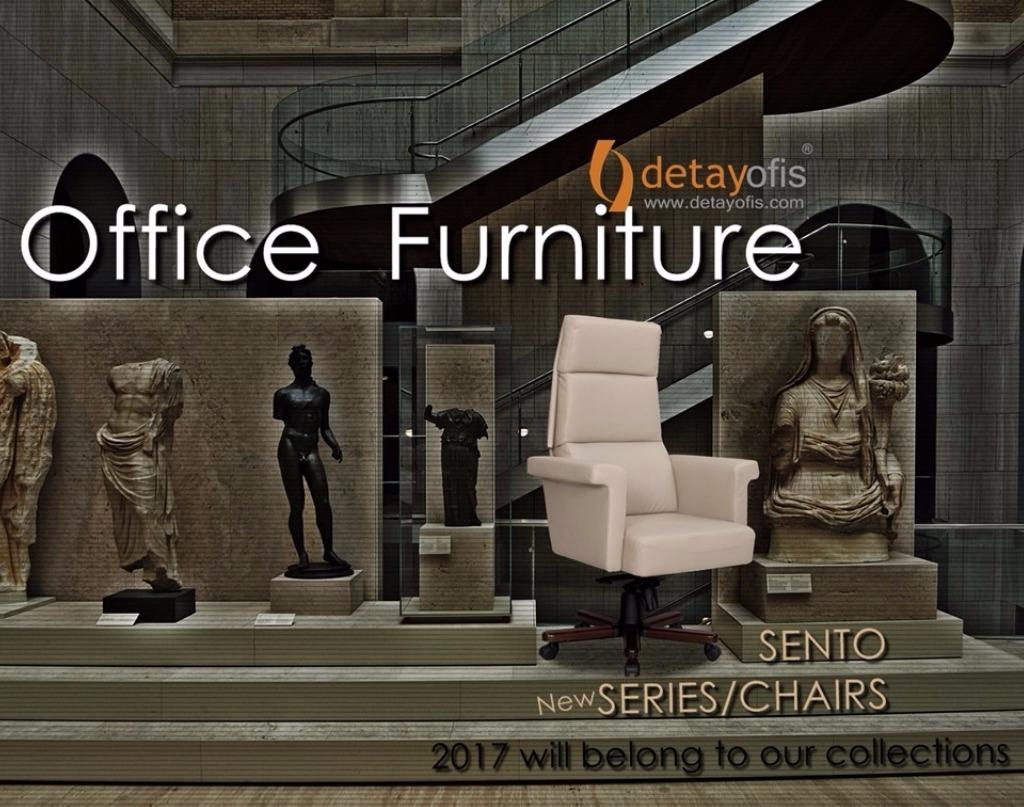 Gelecek sezon! 2017 kolleksiyonumuzdan :Sento serisi ofis koltuk grubu.