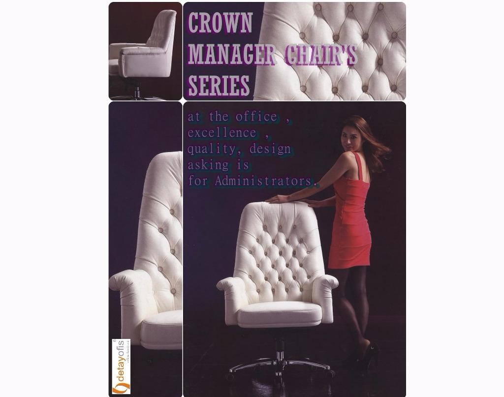 Estetik ile konforun eşsiz buluşması : Crown yönetici koltuk serisi