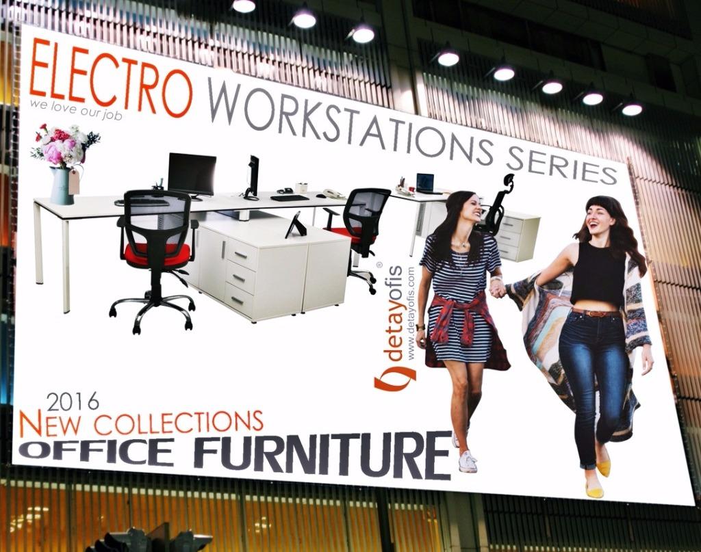 Electro workstation serisiyle ofisler de çalışmak artık daha zevkli.