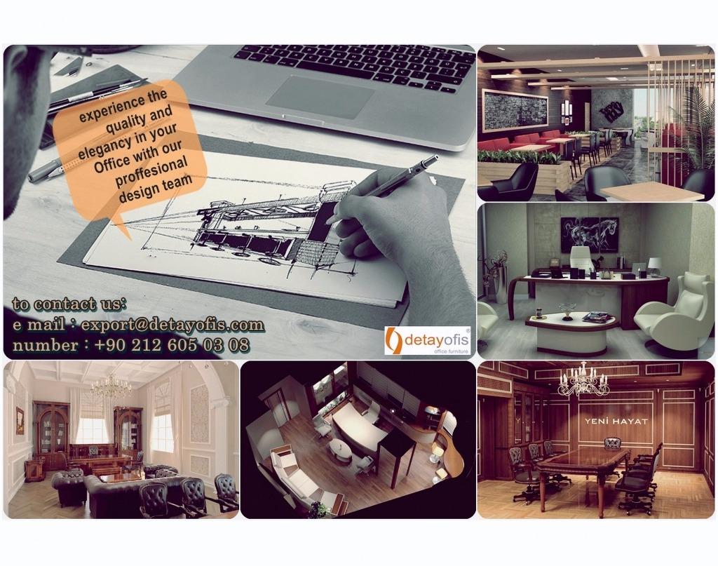 Konusunda uzman tasarım ekibimizle, sizlere yeni ofisler,şık makam odaları,ferah çalışma alanları oluşturalım!