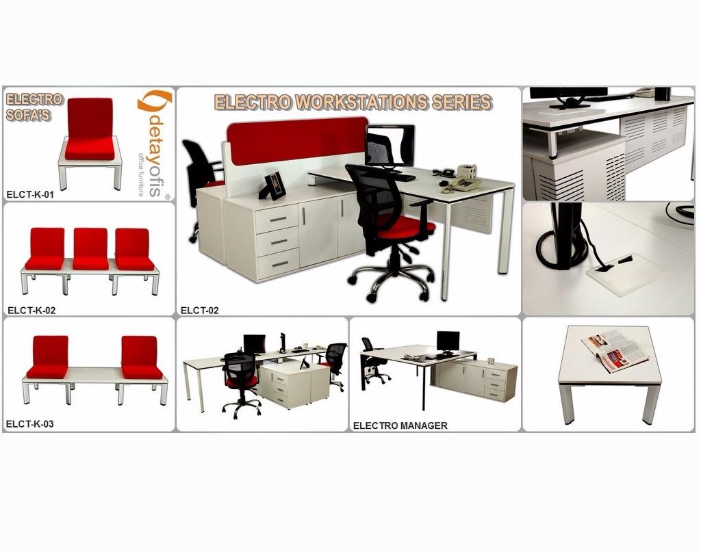 Operasyonel tasarımı ile bireysel ve ortak çalışma olanağı sunan Electro workstation grubu!