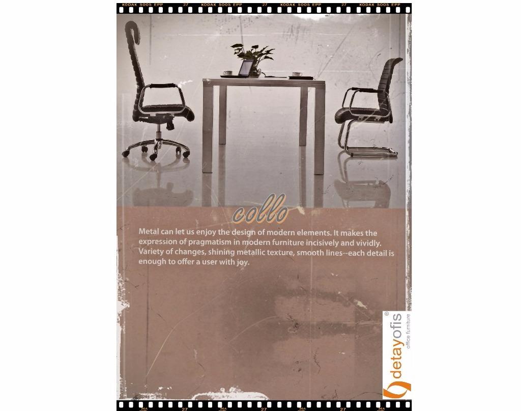 Sadeliğin konfor ile birleşimi:Collo serisi ofis koltukları...