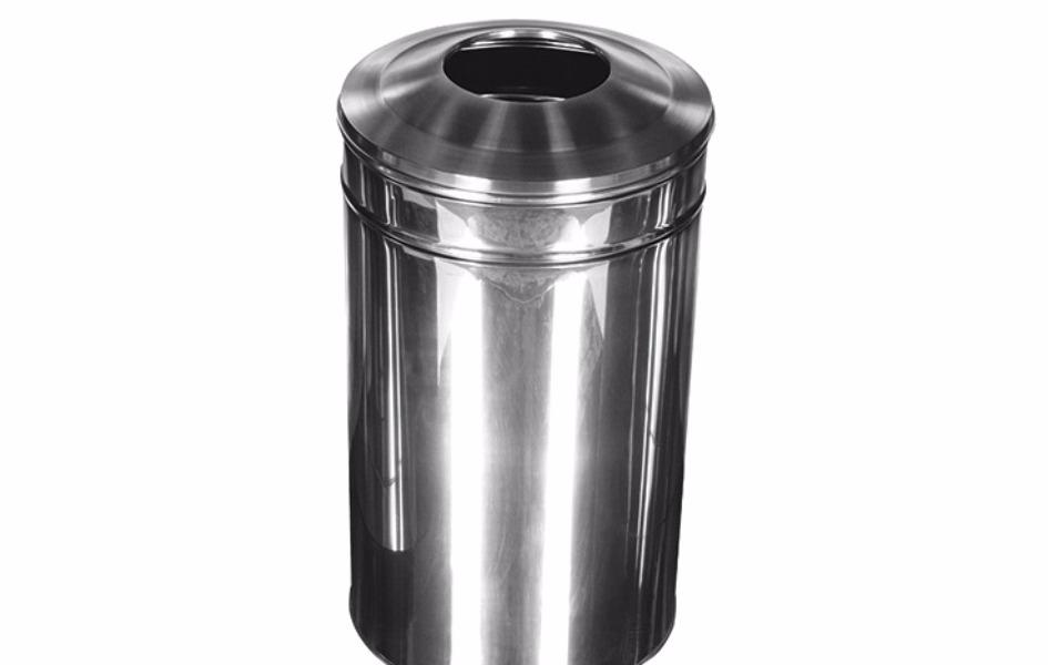 Paslanmaz Atık Çöp Kutusu