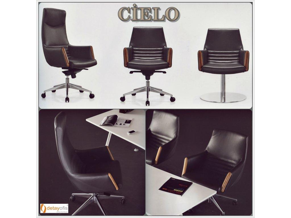 Cielo yöneteci koltuk grubu:ilk etapta bizleri,kol tasarımındaki  Deri ve ahşabın mükemmel sentezi ile  etkisi altında bırakıyor.